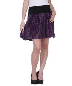 Colorfuel Purple And Black Short Skirt