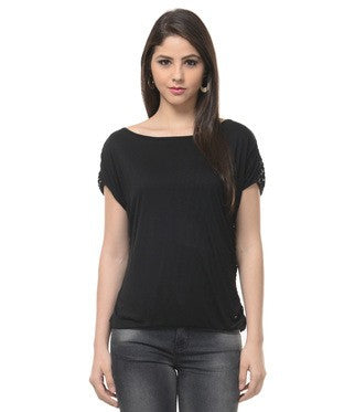 Entease Black Poly Top