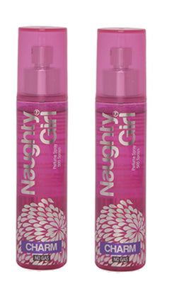 Naughty Girl CHARM Perfume Spray for Women- Pack of 2 (60ml each)