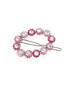 Pink Wreath Hair Clip - JBBDHAB1113