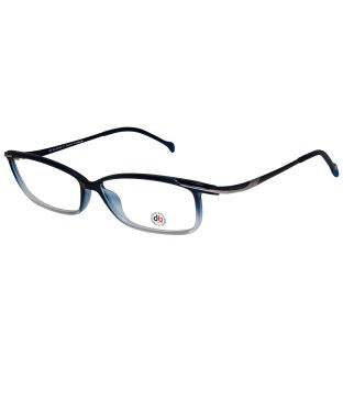 David Blake Matte Blue Rectangular Full Rim EyeFrame