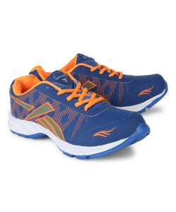 KACEY Blue & Orange EVA Sole Sports Shoes