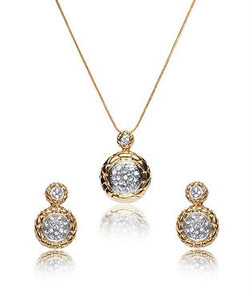 Bauble Burst Chain With Pendant And Earrings