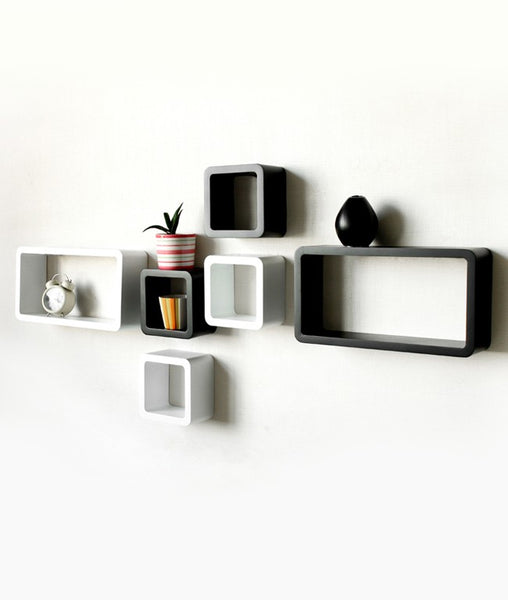 THE NEW LOOK Wall Shelves (Set of 6)-100000717249