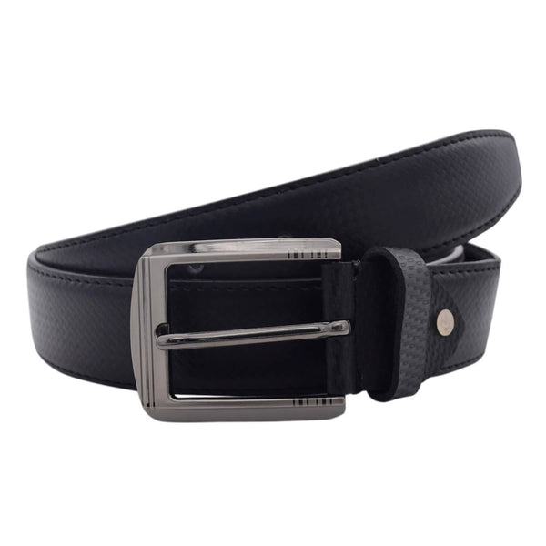 Baluchi's Black Textured Semi Formal Men's Belt $ BLC_PMB_7