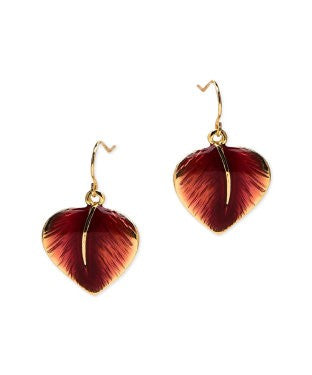 Golden Peacock Gold Plated Leaf Shaped Earring