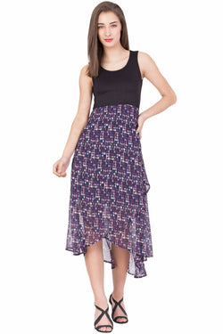 Boxymoxy Women's Printed Multicolor Casual LONG DRESS $ ZB-D4