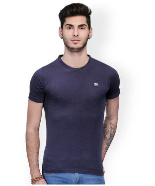 Dazzgear Men's Navy Round Neck MTO-63 T-Shirt