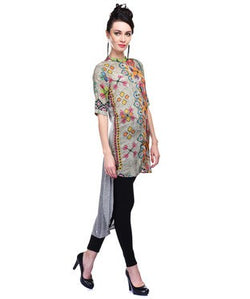 Printed Tunic with Long Jersey Back