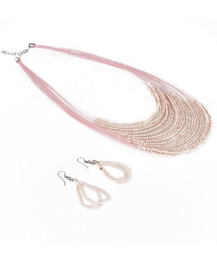 aradhya Alloy Jewel Set (Pink)