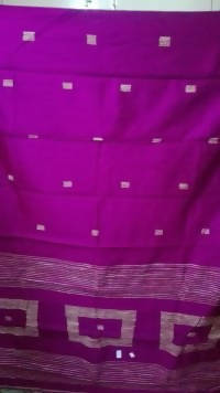 Festive Buzz Purple Cotton Handloom Sarees $ 1424