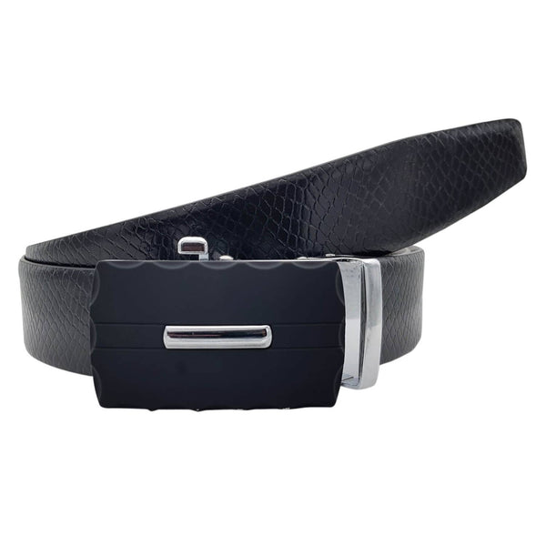 Baluchi's Snake Textured Formal Reversible Leather Belt with Auto lock Buckle $ BLC_LMAUTORV_08