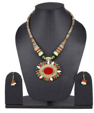 Aradhya Fabric Jewel Set (Multicolor)