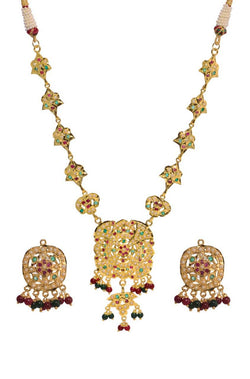 Nizam Nakkashi Necklace Set - JOCDNES9718