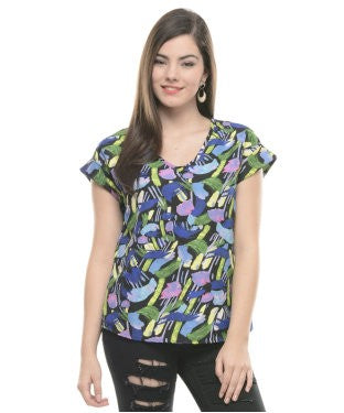 ENTEASE MULTI CREPE TOP