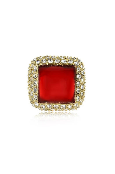 Mud Stone Red Ring