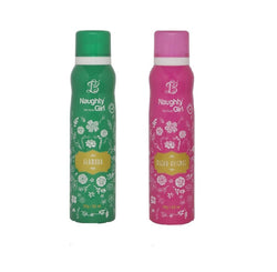 Naughty Girl GLAMOUR FLEUR-ESSENCE Deodorant for Women- (Set of 2) (150ml each)