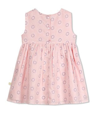 Budding Bees Girls Infant Pink Unique Floral Printed Dress