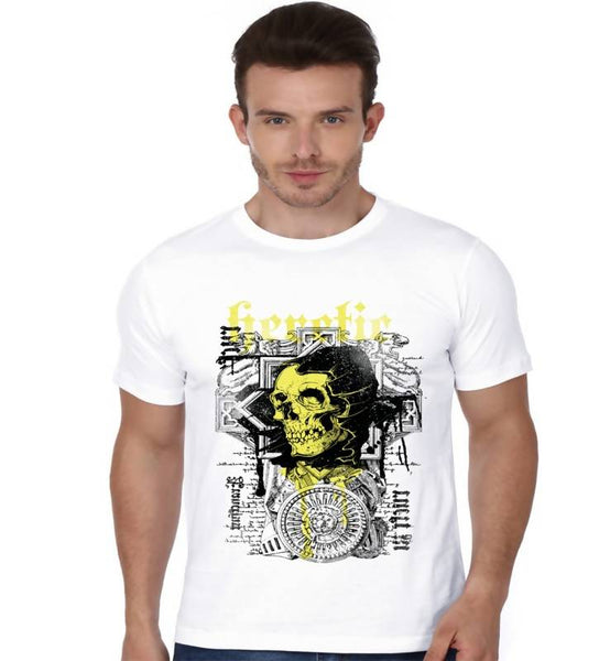 Partum Corde Premium Men's Modern Fit Round Neck T shirt YELLOW DOOM $ YELLOW DOOM1903