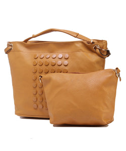 Fiona Trends Tan PU Shoulder Bag,6007_TAN