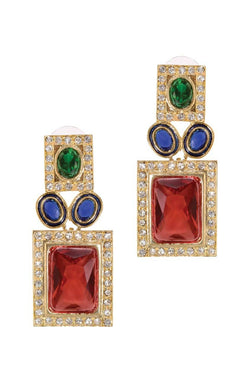 Bright Brick Earrings - JPIMEAR1898
