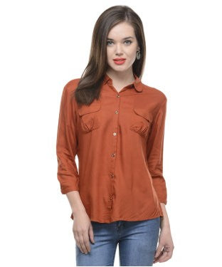 United Colors Of Benetton Rust 3/4 Shirt