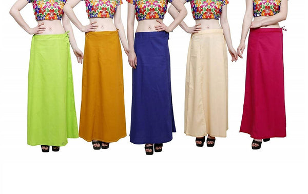 MY TRUST Cotton Multi Color Color Saree Petticoats $ PE-14