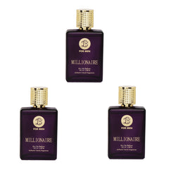 EAU DE PARFUM MILLIONAIRE Perfume Spray for Men- Pack of 3 (100ml each)