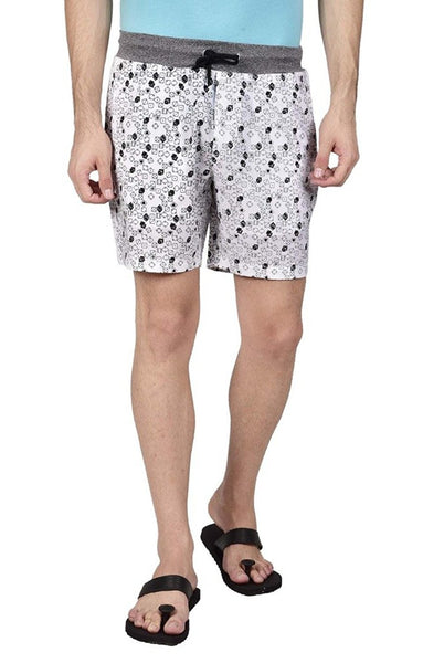 Hammock Men's Dice Printed Boxer Shorts - White-H19F01D60430