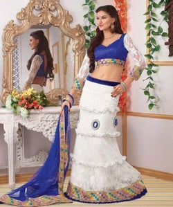 Net Lehenga Choli and Dupatta