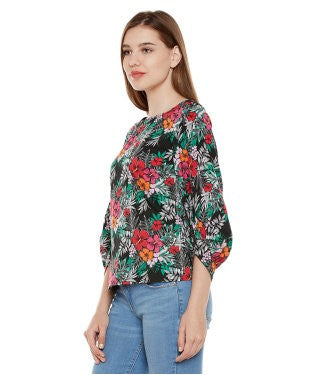 Oxolloxo Tropical Print Multicolor Top