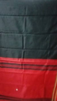 Festive Buzz Black & Red Cotton Handloom Sarees $ 1438