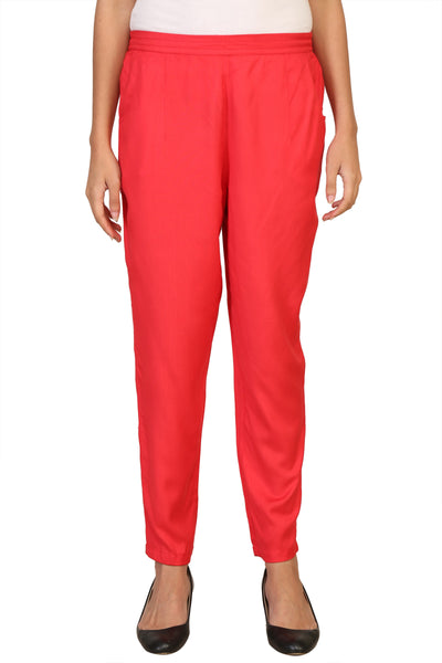 Vaniya Women Pant Cotton Rayon Orange Straight Pant $ VN-PT102
