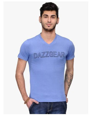 Dazzgear Men's Blue V Neck MTV-43 T-Shirt