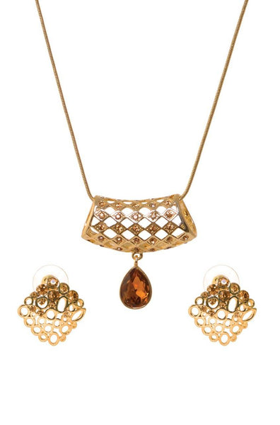 Criss Cross Pendant Set - JILMNES5872
