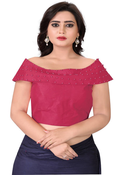 YOYO Fashion Peach Fantom Solid Extra Sleeve With Blouse $ YOYO1-BL4006-Peach