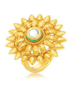 Sukkhi Royal Gold Plated Ring For Women