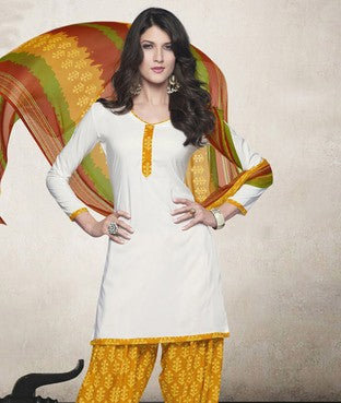 American Crepe Suit with Dupatta