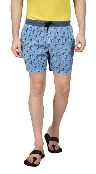 Hammock Men's Dice Printed Boxer Shorts - Blue-H19F31D60430
