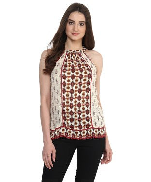 Miway Maroon Printed Camisole