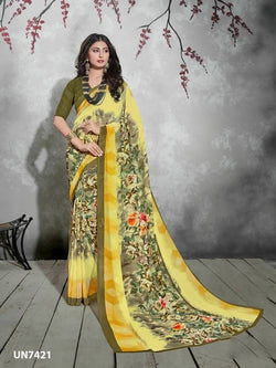 Umang NX Multi Digital Designer Digital Printed Sarees $ UN7421
