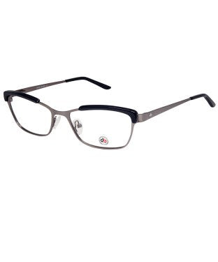 David Blake Matte Grey Blue Cateye Full Rim EyeFrame
