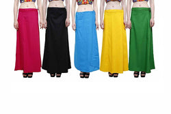 MY TRUST Cotton Multi Color Color Saree Petticoats $ PE-3