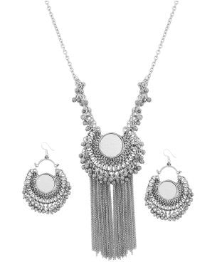 Aradhya Metal Jewel Set (Silver)