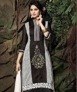 Chanderi Cotton Suit with Dupatta