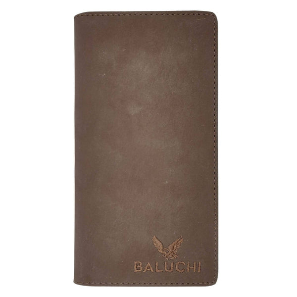 Baluchi Brown Matt Finished Long Wallet for Men & Women $ BLC_LNGWLT_BRN_03