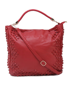 Fiona Trends Red PU Shoulder Bag,6006_RED