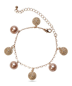BAUBLE BURST Golden Charms Anklet