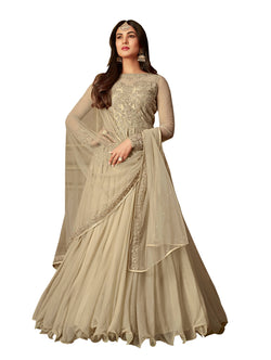 YOYO Fashion Nylon Net Anarkali Semi-Stitched salwar suit $ F1303