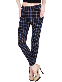 Baluchi Check Plaid Print Jeggings $ BLC_JEG_25